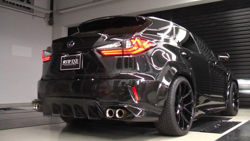 """純VIP EXE RX450h200t """"F SPORT"""" エアロ専用カーボンマフラー(95Φ左右4本出し)※2WD・4WD設定有"""