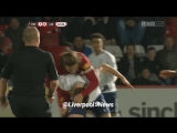 Adam Lallana sent off for putting Spurs teenager in a chokehold during Liverpool U23 clash