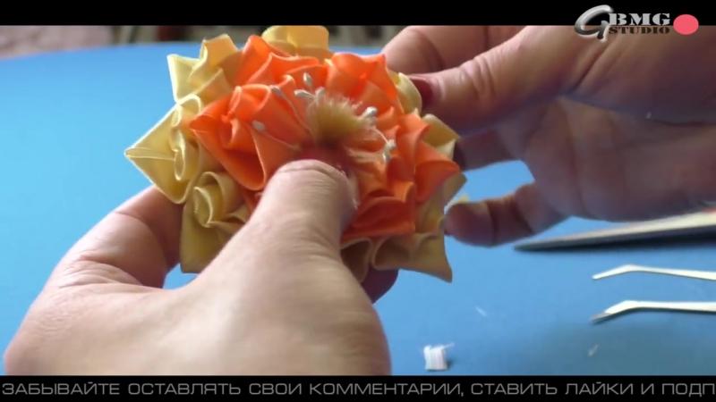 Лисички-Сестрички, Резиночка и Новый лепесток Канзаши _ New petal Kanzashi and Elastic hair Fox