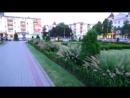 Прогулка по улице Красной г.Кропоткин, фонтан на Привокзальной плошади, август 2