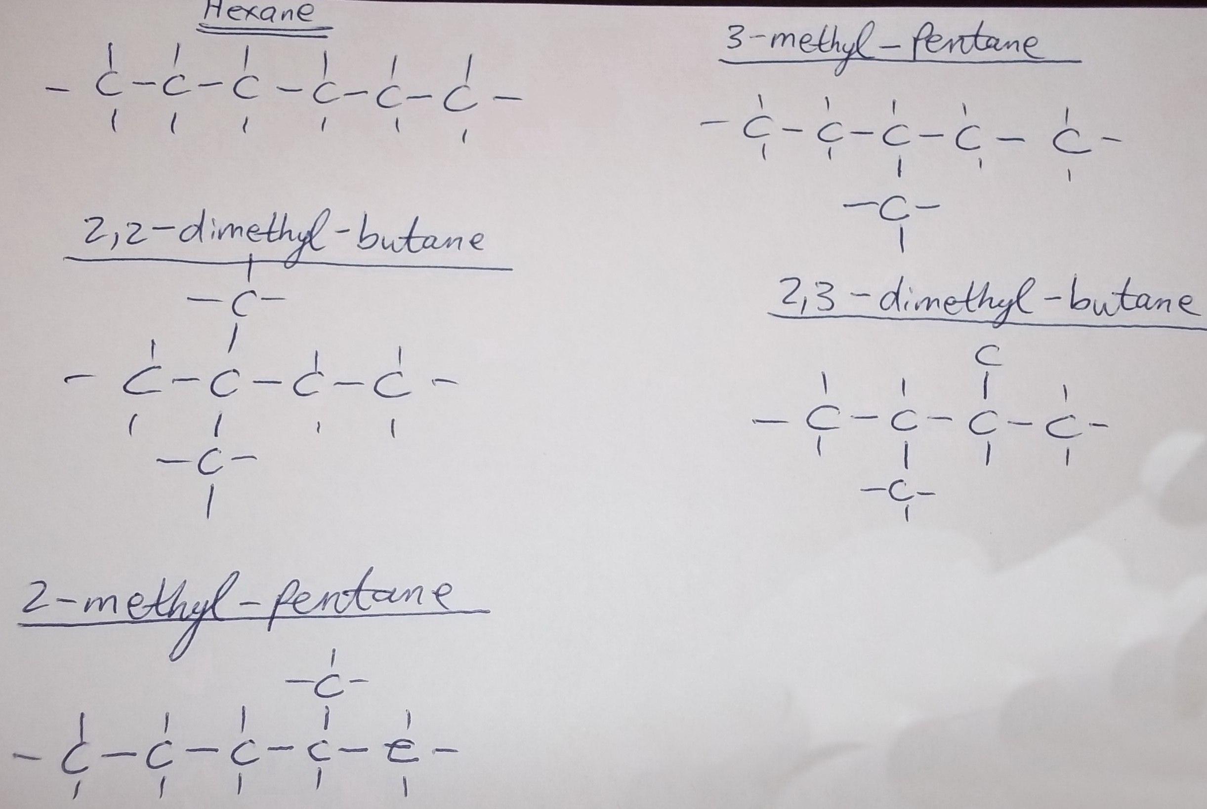 структурные изомеры гексана