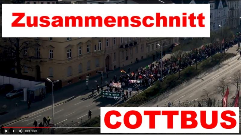 Demo Cottbus 14.04.2018 ein Zusammenschnitt