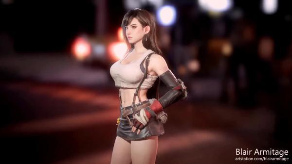 Невероятно детализированная 3D модель Тифы Локхарт из Final Fantasy VII
