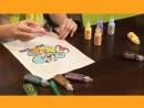Витражные краски. Как изготовить наклейку-стикер