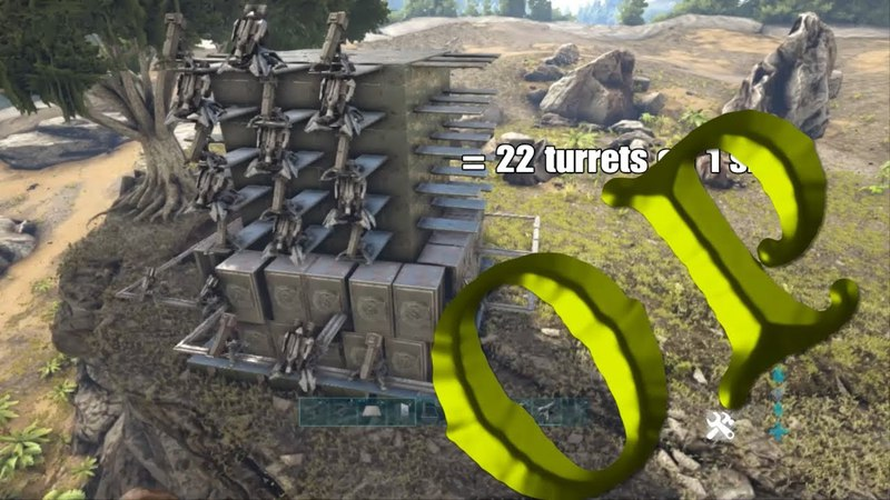 BEST Turret tower ||Build|| EASY (ONLY MEGA TRIBES USE) Ark PS4 OffIcial