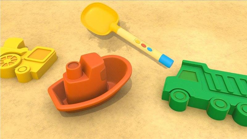 Cartoni animati per Bambini: NUOVO Camion sulla spiaggia - le formine di sabbia