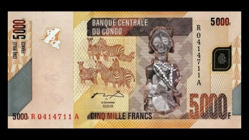 All Banknotes of Congolese franc_DR Congo_50 Francs to 20.000 Francs_2005 to 2013 Issue