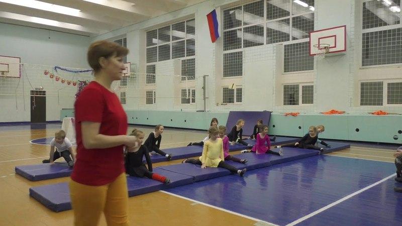 Открытое контрольное занятие группы акробатики Старожиловской ДЮСШ 26.12.2017г.