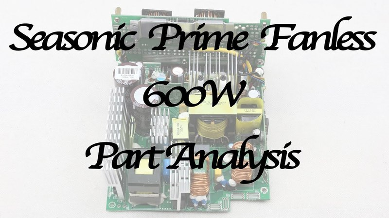 Seasonic Prime Titanium Fanless 600W Part Analysis