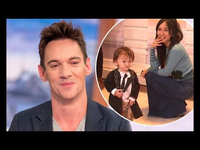 Jonathan Rhys Meyers' cute little son Wolf steals the show on GMB