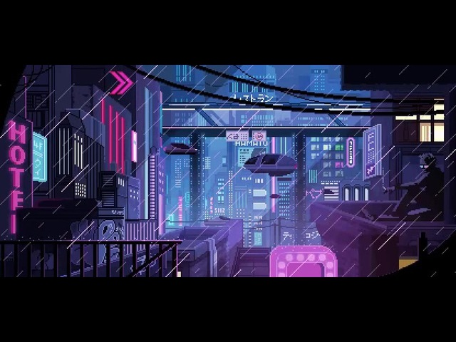 Pixel Art: Futuristic City