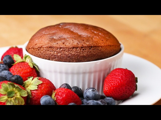 2-Ingredient Chocolate Soufflé
