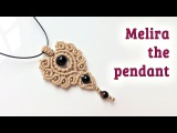 Macrame pendant tutorial The Meliara jewelry set - H