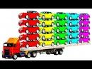 Мультики про Машинки Цветные Грузовики и Джипы для Для Детей Учим Цифры Мультик Песенка для Малышей