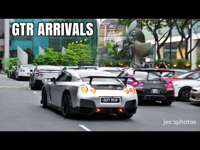 50 Nissan GT-R R35s Gather for Dinner - Supercars Arriving