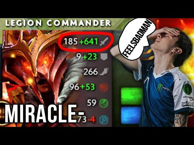 Miracle- Legion Comander WTF! is this Damage vs feelsBadman Bristle - Dota 2