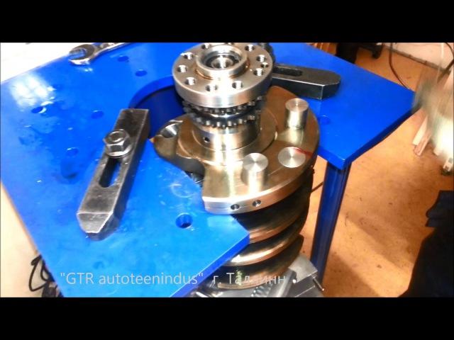 Балансировка коленвала Lamborghini V10 5,2l / crankshaft Balancing
