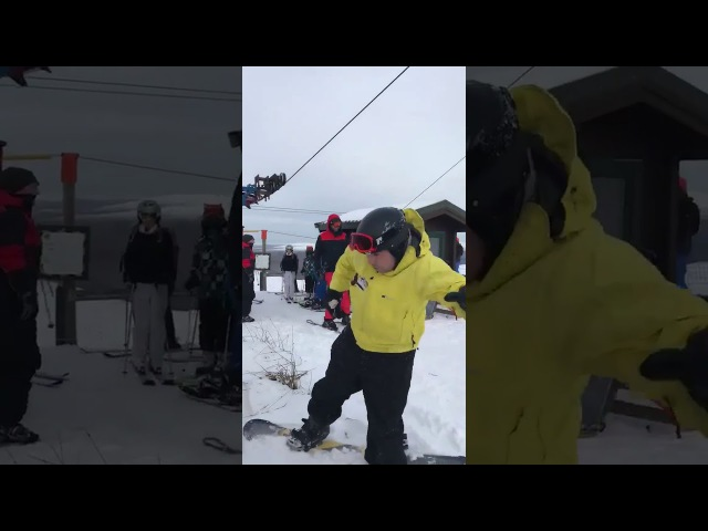 When you and your mates go snow boarding for the first time.