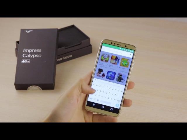 Обзор смартфона Vertex Impress Calypso с дисплеем 18:9!