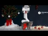 Merry Christmas from Franka Emika's robot Panda and the adorable kitten!