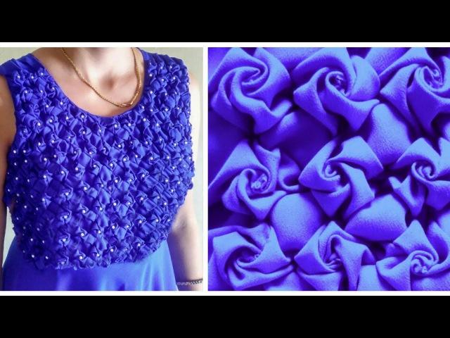 Low and High Smocking Frock (Rose Design) dress design girl blusa day cat may hermosos vestidos