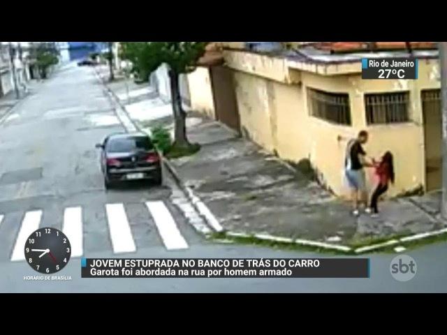 Câmera flagra ação de estuprador na Zona Leste de São Paulo SBT Brasil 20 01 18