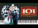 Cruella de Vil - 101 Dalmatians [Piano Tutorial] (Synthesia) // Marco Tornatore