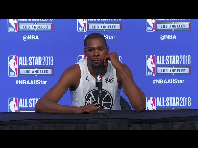 Kevin Durant Postgame Interview   February 18, 2018   2018 NBA All-Star Game