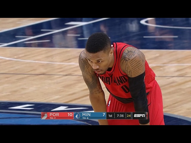 Portland Trail Blazers vs Minnesota Timberwolves 1st Qtr Highlights Jan 14 2017 18 NBA Season