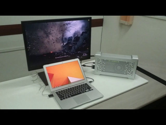 Mac Can Game! Battlefield 1 on the old MacBook Air 2012 GTX 980 Bizon BOX 2S (eGPU EGFX Dock)