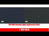 UFO With Glowing Lights Appeared In Sky!! 20118