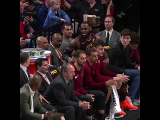 Some tension on the bench between LeBron James and Tyron Lue