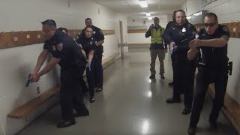 Active Shooter Training Session in Stoughton