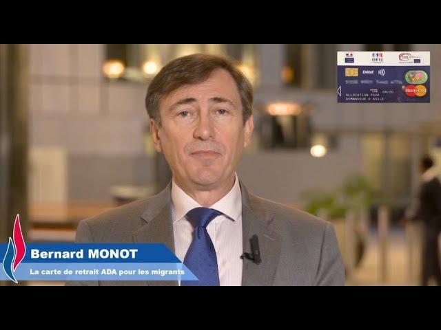 Bernard Monot (FN) présente un Flash éco spécial sur la carte de retrait des migrants.