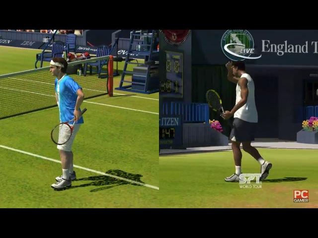 Roger Federer vs Gaël Monfils. Wimbledon. Virtua Tennis 3 (1 part)