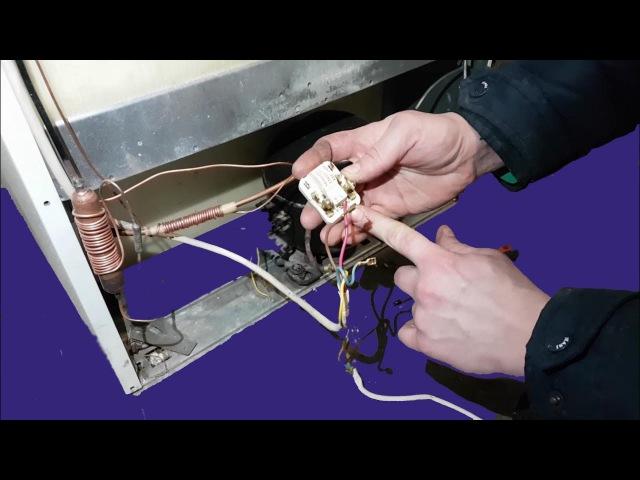 Самостоятельно подключаем термостат, прозваниваем обмотки, подключаем пусковое реле.