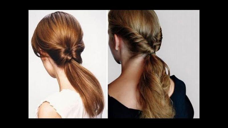 Простые прически на каждый день для волос средней длины