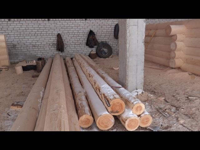 Как идет заготовка срубов! Сруб бани: 6х6 м 5м стена.