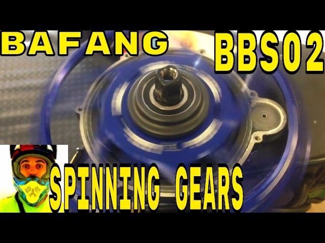 Bafang BBS02 spinning gears with Lekkie Bling Ring • Electric Bike 48v 750w 8fun mid-drive motor