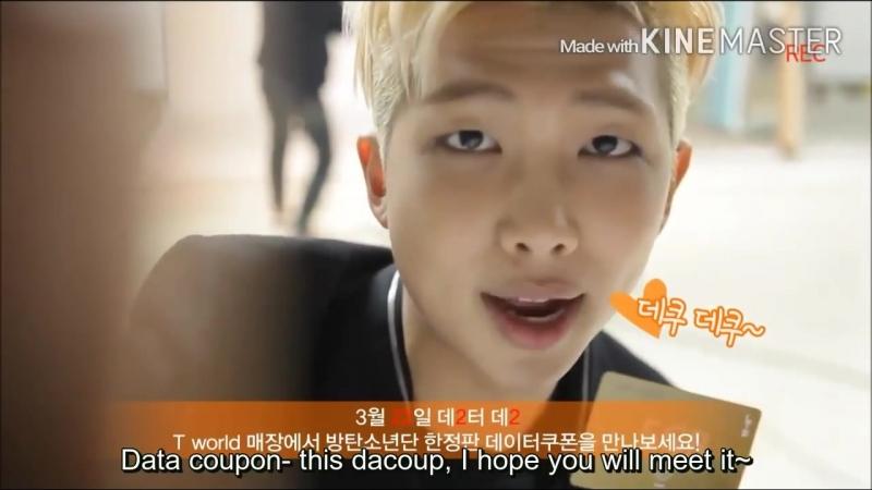 [ENG SUB] BTS- SK Telecom twitter video J-Hope, Jimin, V, Rapmon