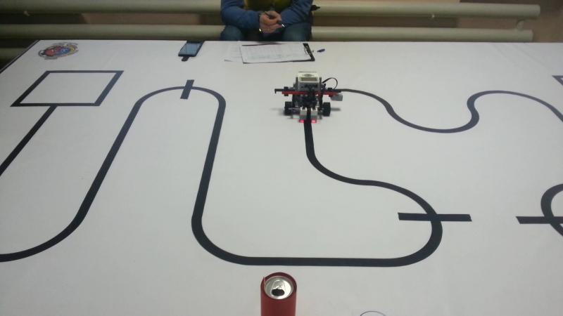 Счетчик-траектория на 2-м городском конкурсе по робототехнике. RoboLand.