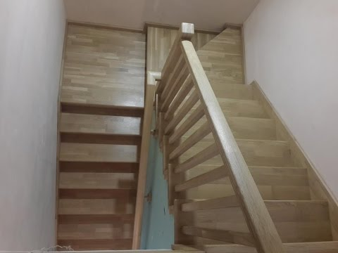Лестница из дуба на металлокаркасе 1 часть обзор готовой лестницы