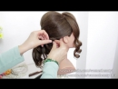 Romantic Bridal Hairstyle For Long Hair Tutorial. Wedding Updo