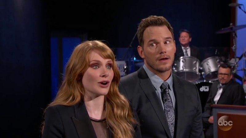 Chris Pratt Bryce Dallas Howard Present Jurassic World Fallen Kingdom