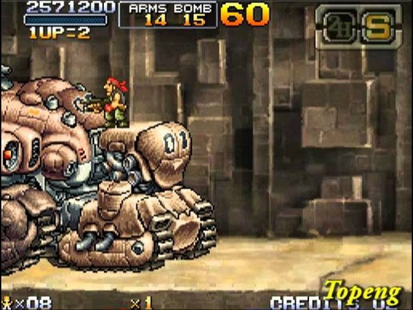 [NDS]Metal Slug 7 HARD Ralf NO Death All Clear One Coin
