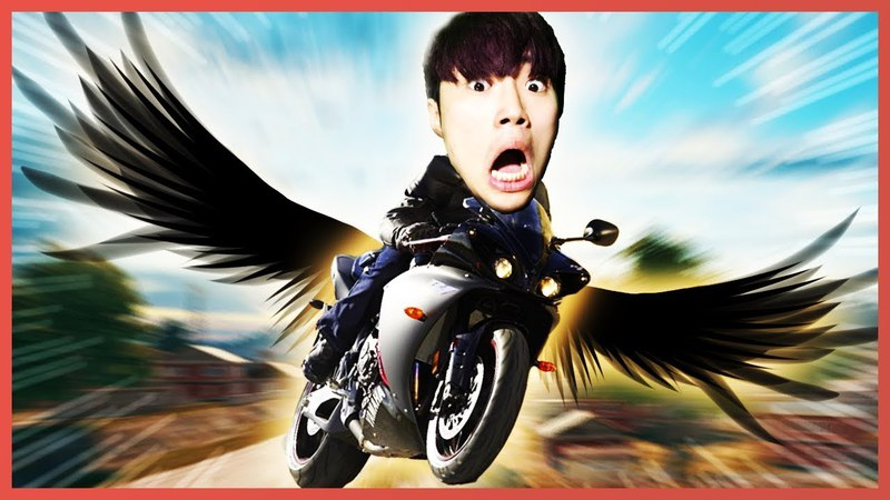 레전드!! 오토바이에 날개가 달려서 하늘을 날다??!! 배틀그라운드 [사모장]