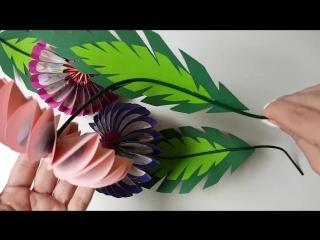 Очень простые в изготовлении цветочки из бумаги в стиле оригами 🌺🌺🌺