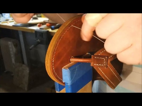 Lets Make Leather Flip Flops! Part 8 - Sewing the Sole (Goodyear Welt Inspired)