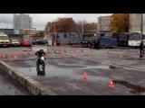 Соревнования по фигурному вождения мотоцикла. Класс: питбайки. Занял 2 место)
