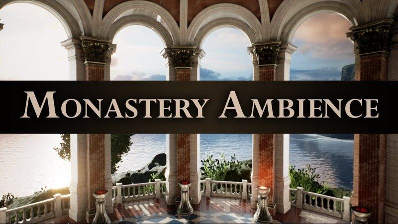 Gregorian Monastery Ambience | Backround Sounds | ASMR, Study, Contemplation | 2 Hours